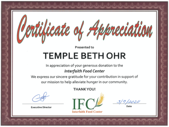 food-bank-certificate